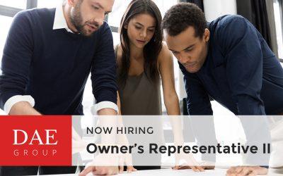 Now Hiring – Owner's Representative II