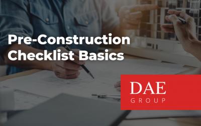 Pre-Construction Checklist Basics